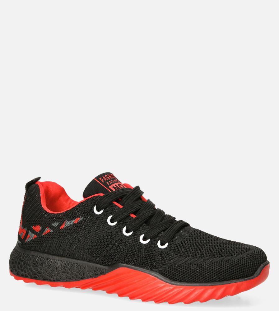 Czarne buty sportowe sznurowane Casu 20O15/BR czarny