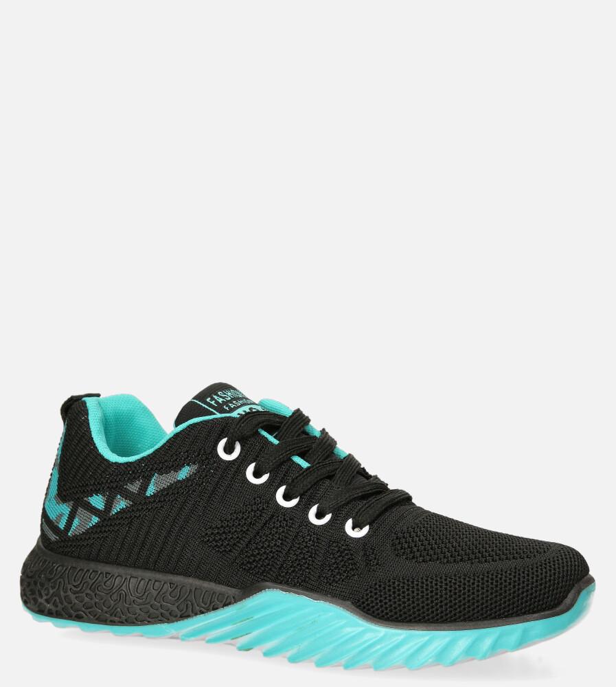 Czarne buty sportowe sznurowane Casu 20O15/BT czarny