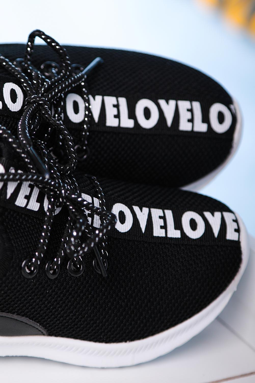 Czarne buty sportowe sznurowane Casu 20T1/M czarny