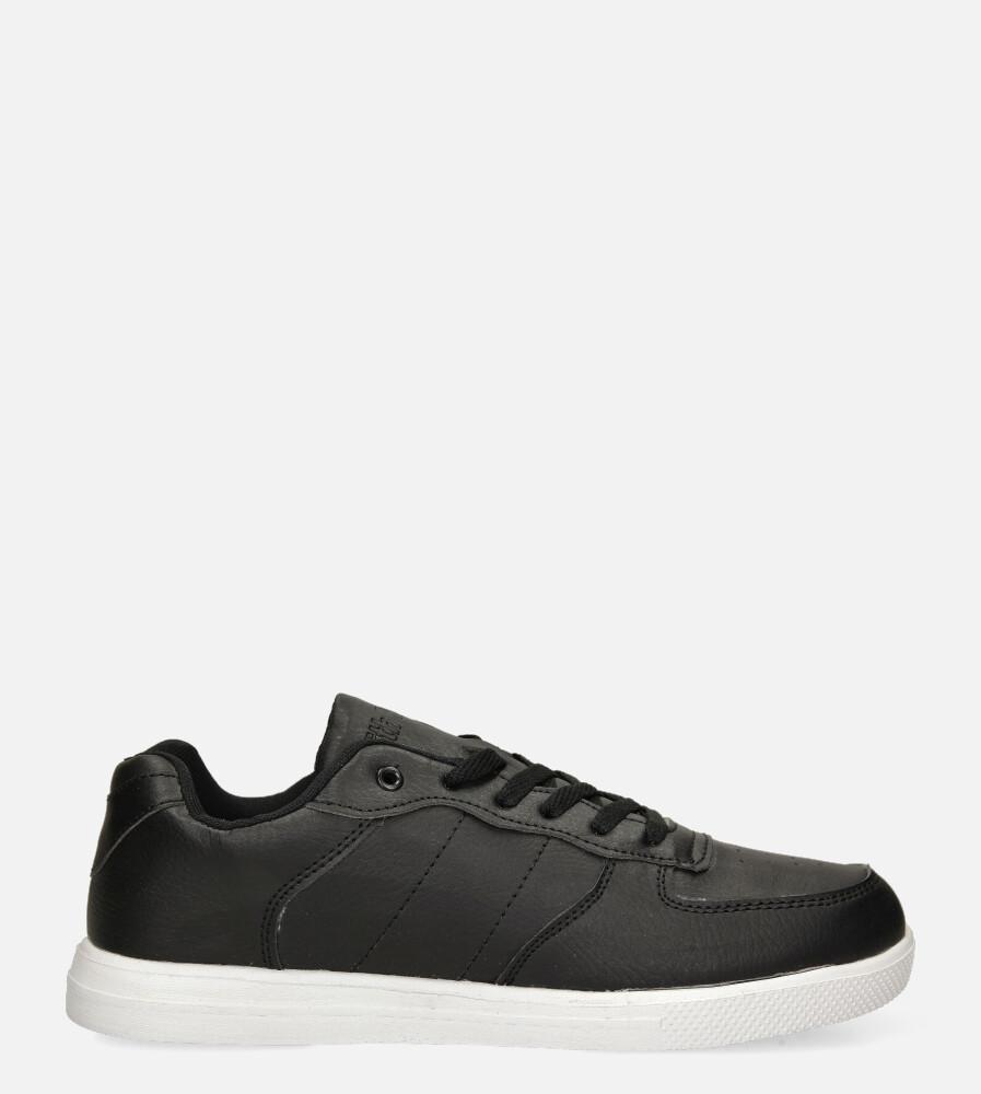 Czarne buty sportowe sznurowane Casu 20T7/W