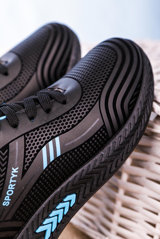 Czarne buty sportowe sznurowane Casu 20Y01/B czarny