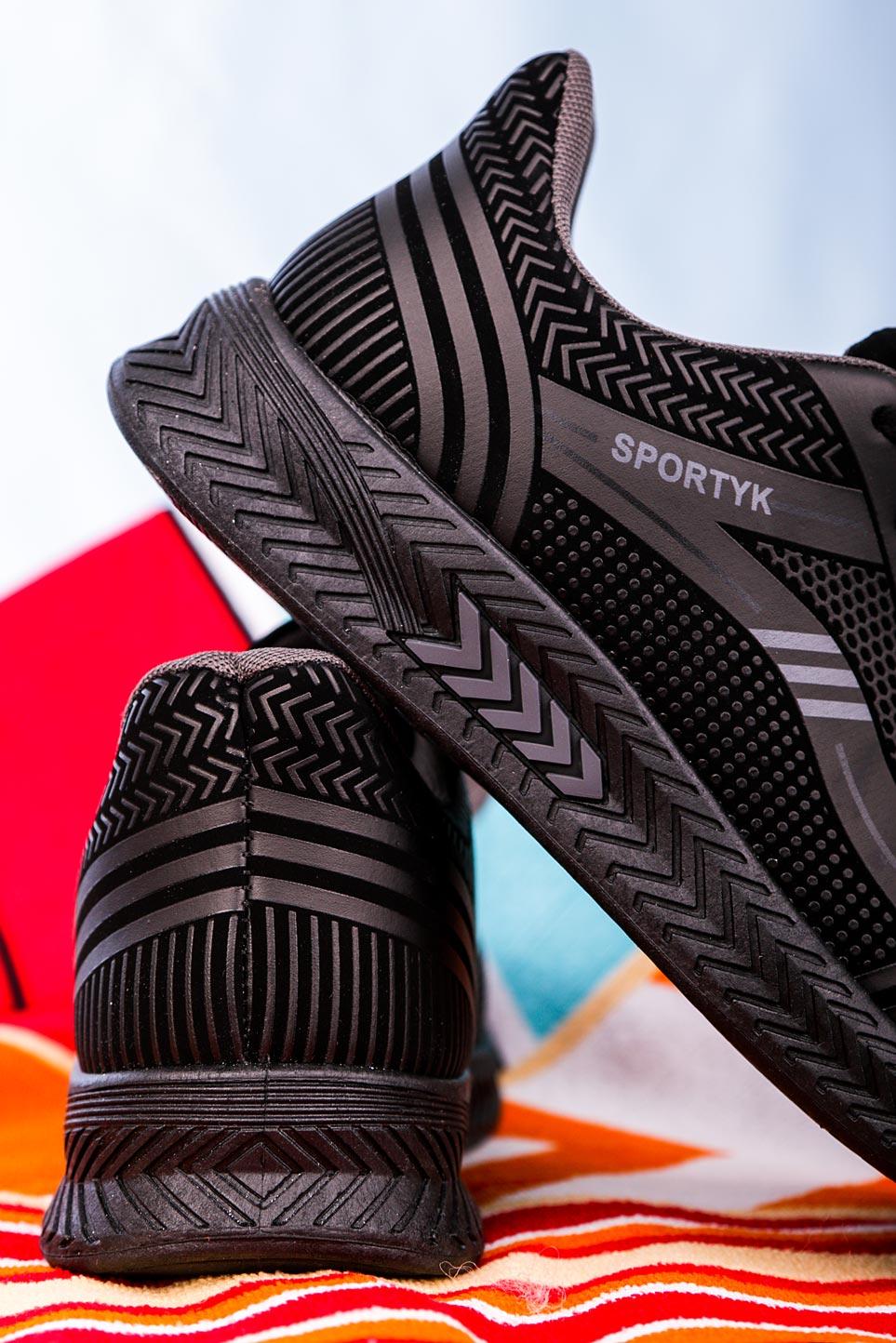 Czarne buty sportowe sznurowane Casu 20Y01/G czarny