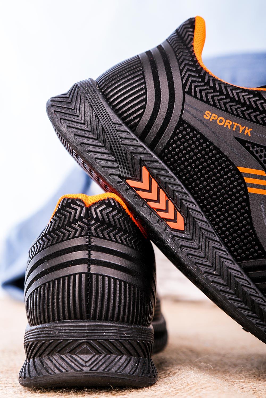 Czarne buty sportowe sznurowane Casu 20Y01/O czarny