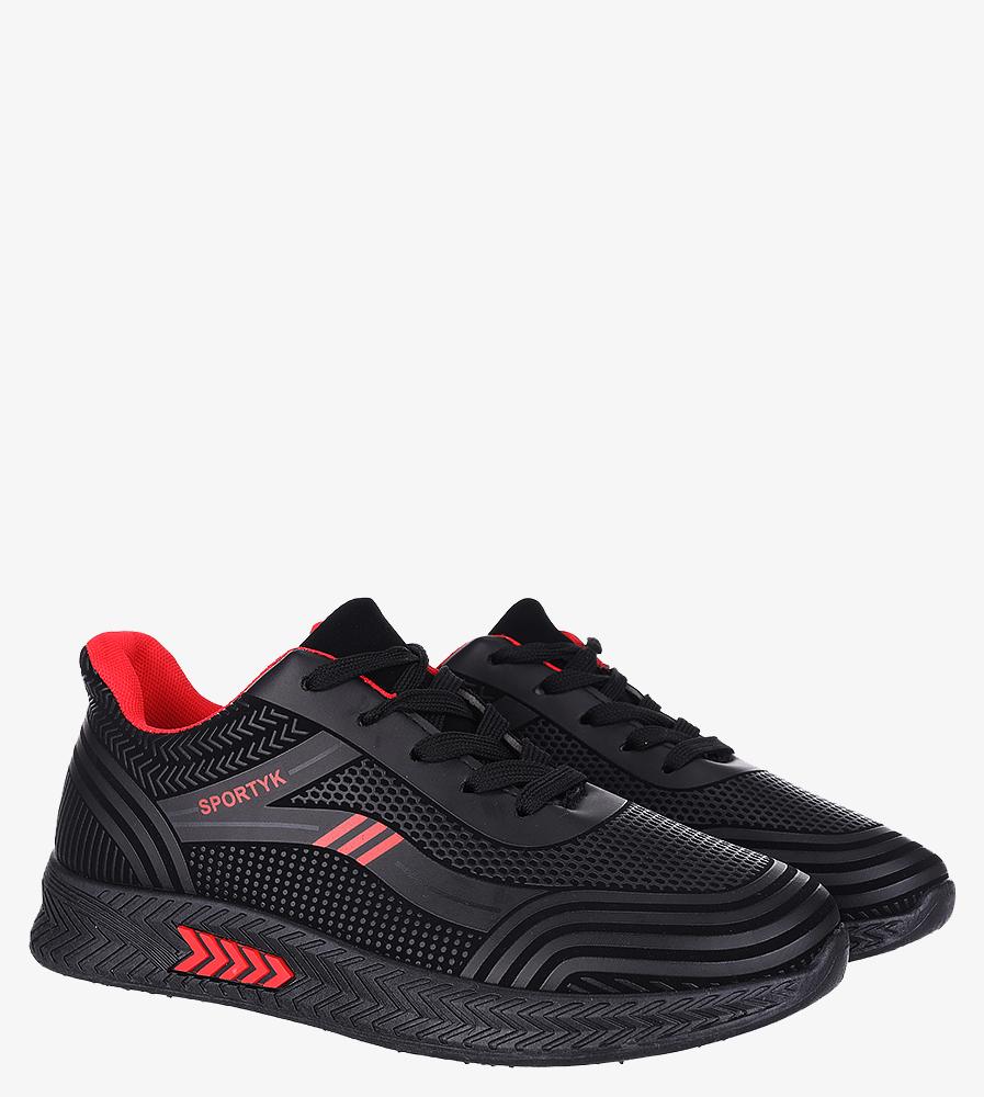 Czarne buty sportowe sznurowane Casu 20Y01/R czarny