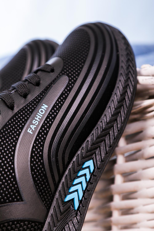 Czarne buty sportowe sznurowane Casu 20Y03/B czarny