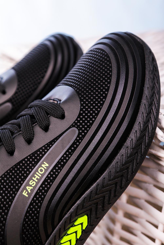 Czarne buty sportowe sznurowane Casu 20Y03/GR czarny