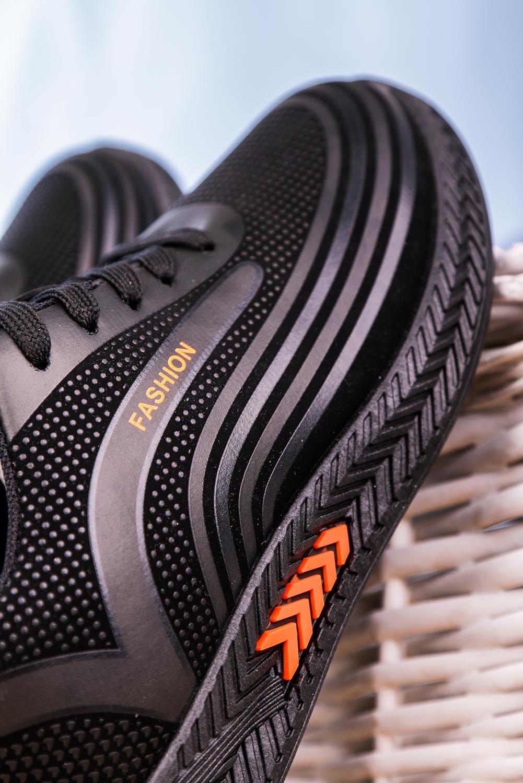 Czarne buty sportowe sznurowane Casu 20Y03/O czarny