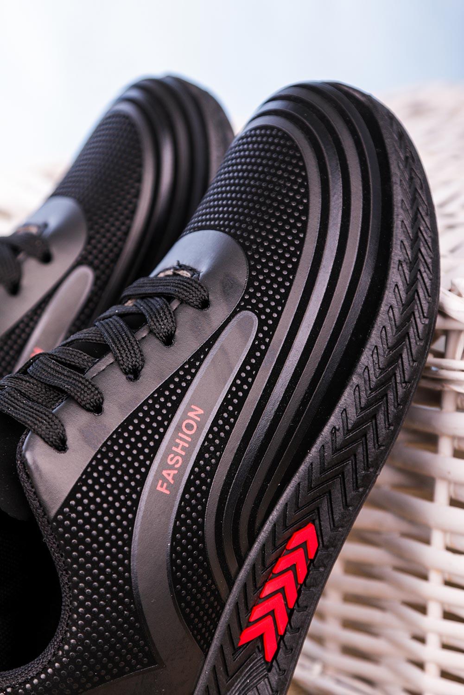 Czarne buty sportowe sznurowane Casu 20Y03/R czarny