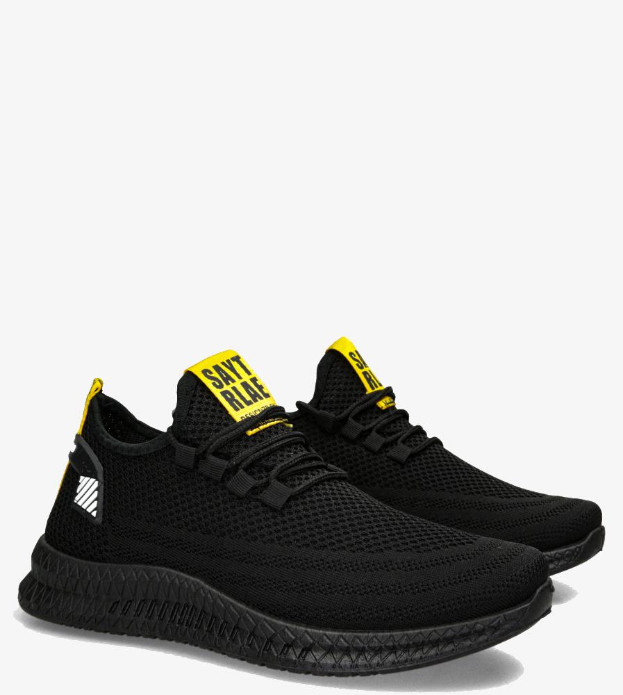 Czarne buty sportowe sznurowane Casu 21A3/BO czarny