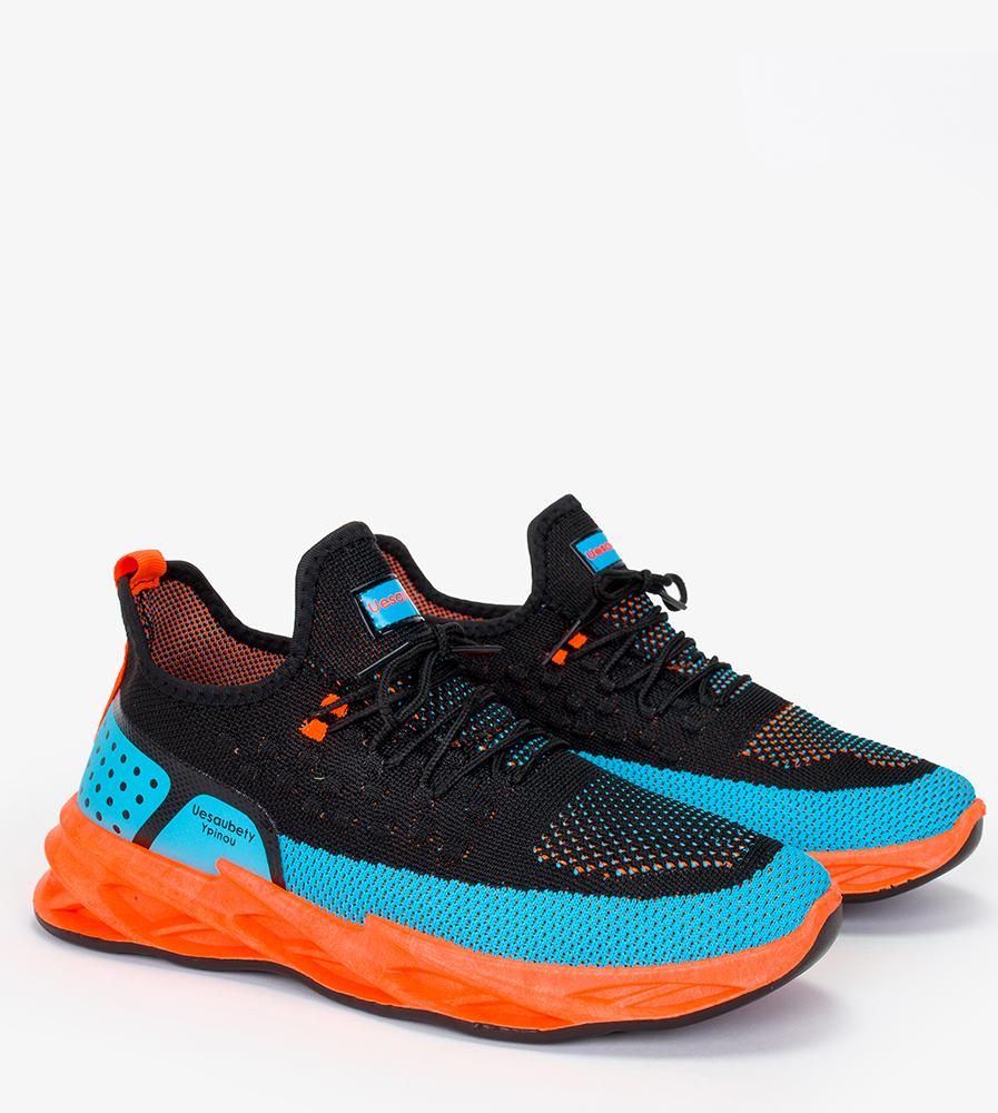 Czarne buty sportowe sznurowane Casu 21A4/BB