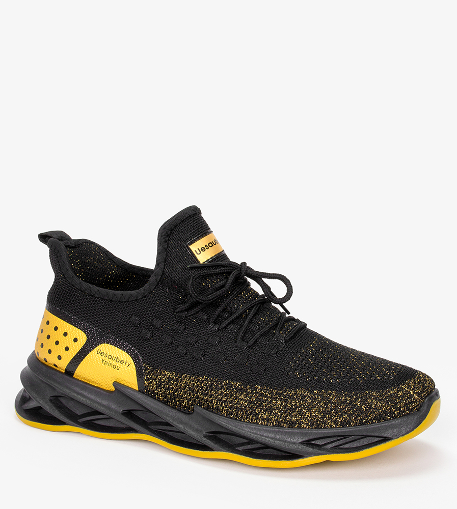 Czarne buty sportowe sznurowane Casu 21A4/BY czarny