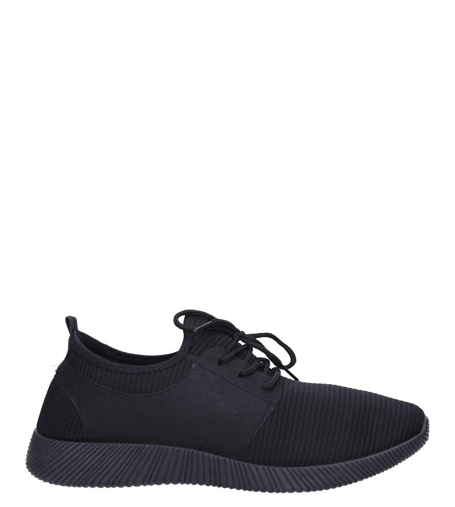 Czarne buty sportowe sznurowane Casu 2951 czarny