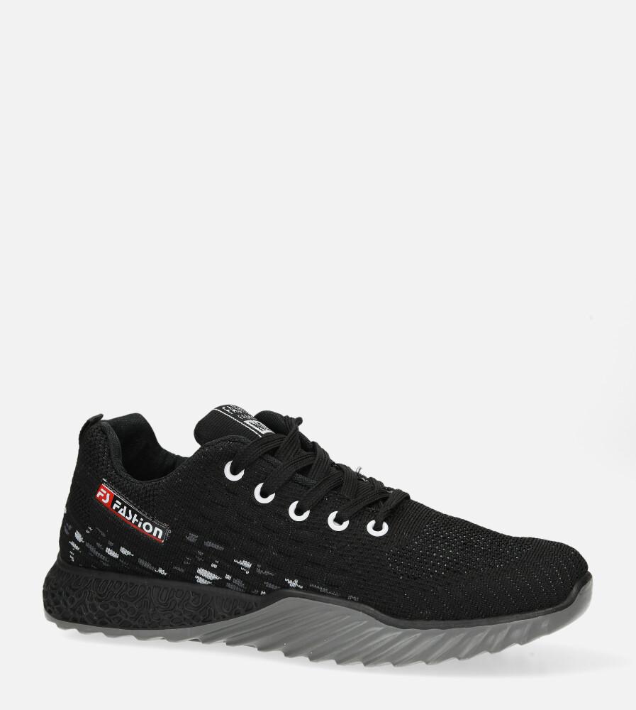 Czarne buty sportowe sznurowane Casu 3088