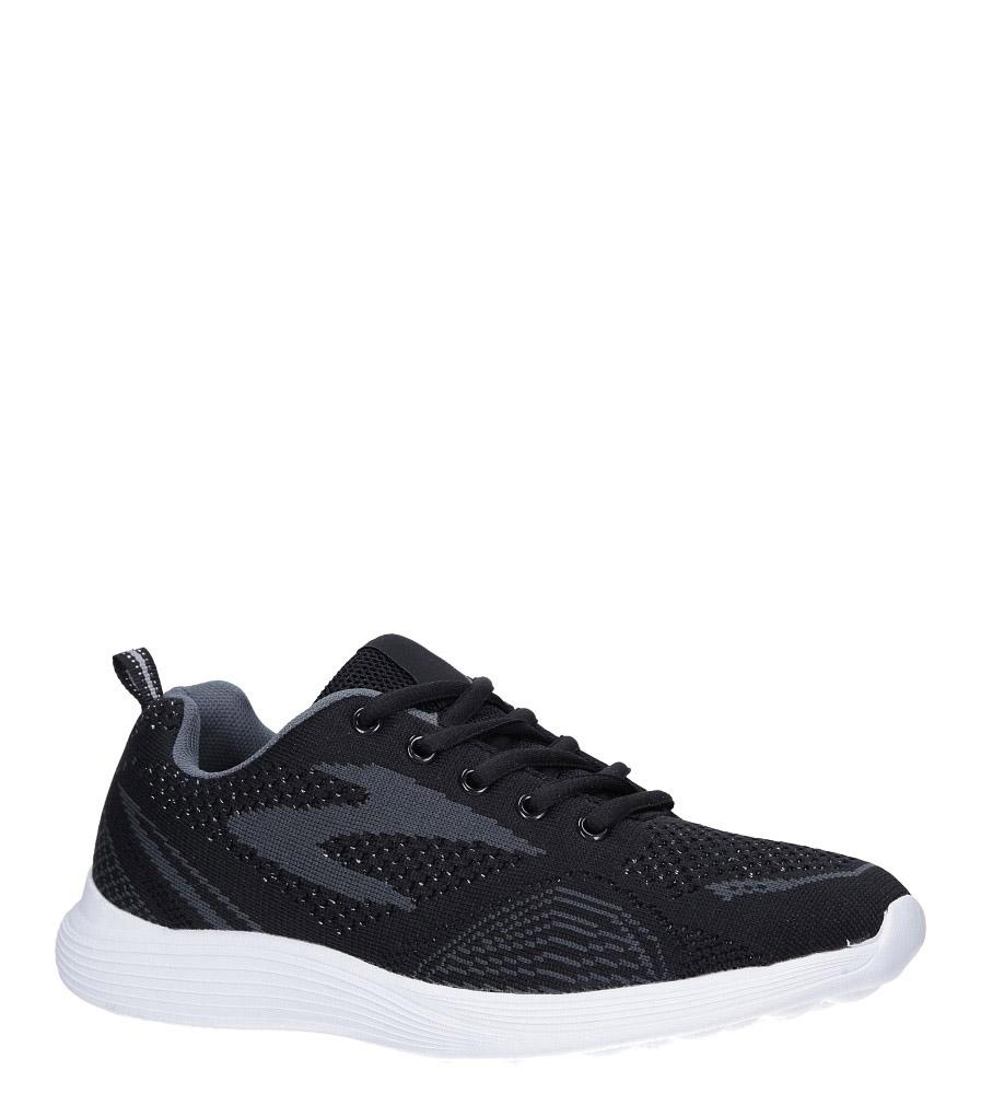 Czarne buty sportowe sznurowane Casu 5042-1