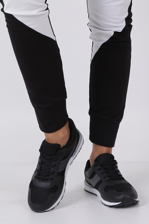Czarne buty sportowe sznurowane Casu 608B-1