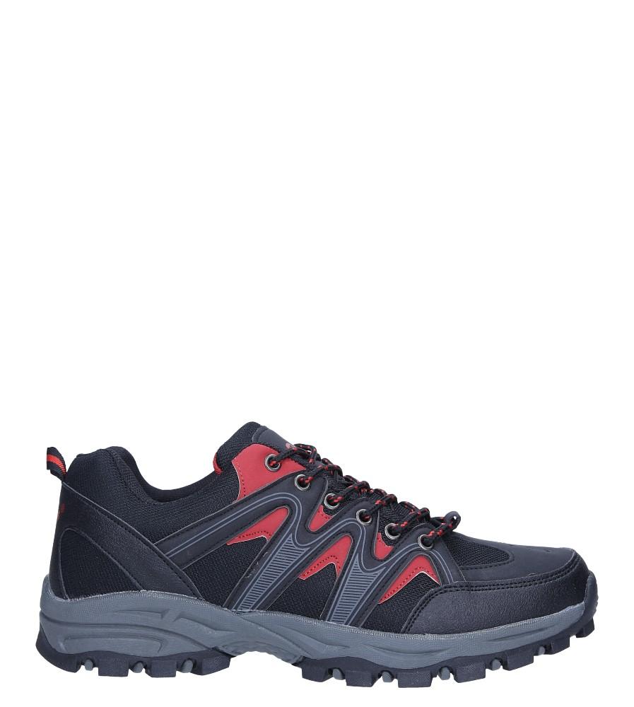 Czarne buty sportowe sznurowane Casu 78002