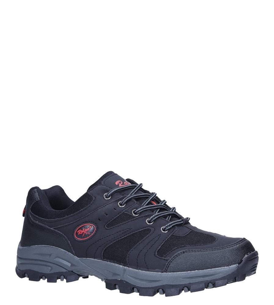Czarne buty sportowe sznurowane Casu 78003