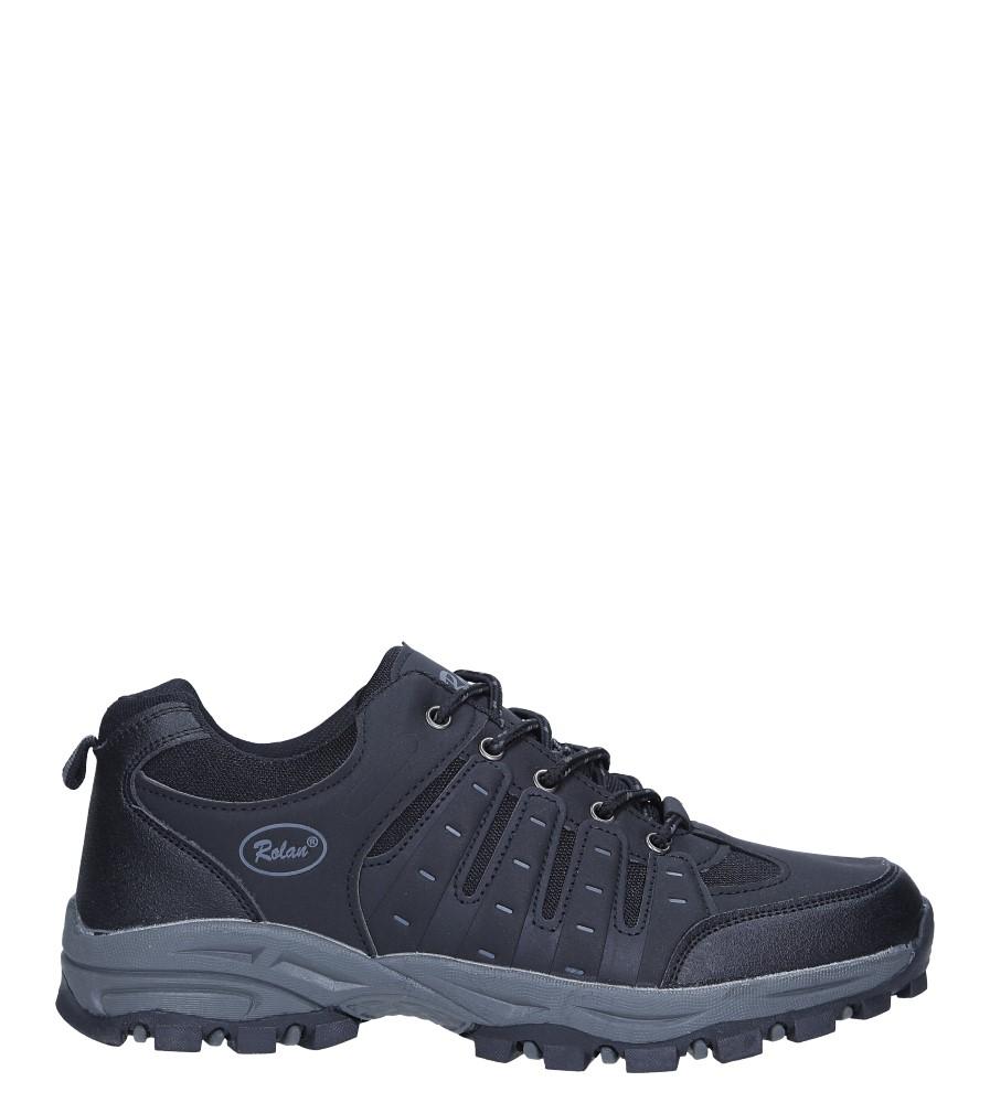 Czarne buty sportowe sznurowane Casu 78004