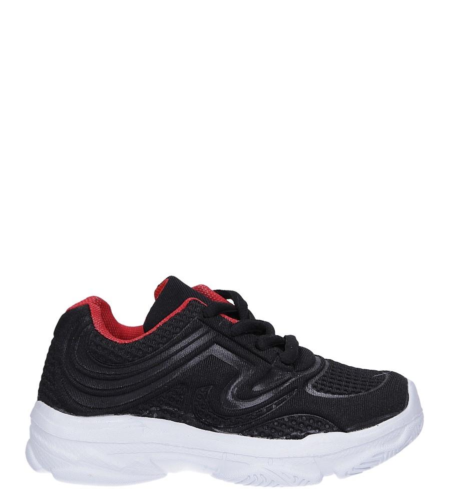 Czarne buty sportowe sznurowane Casu 805A