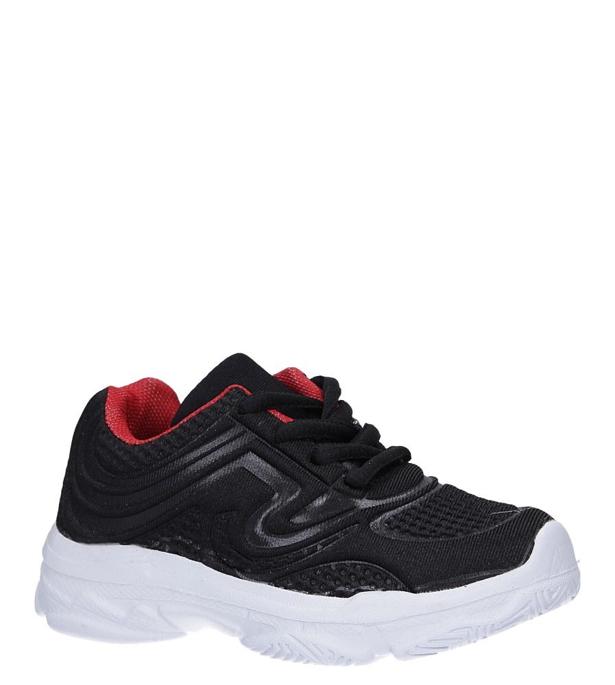 Czarne buty sportowe sznurowane Casu 805B