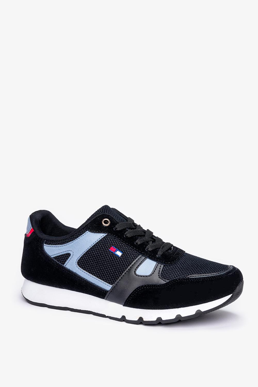 Czarne buty sportowe sznurowane Casu 8217-1 czarny