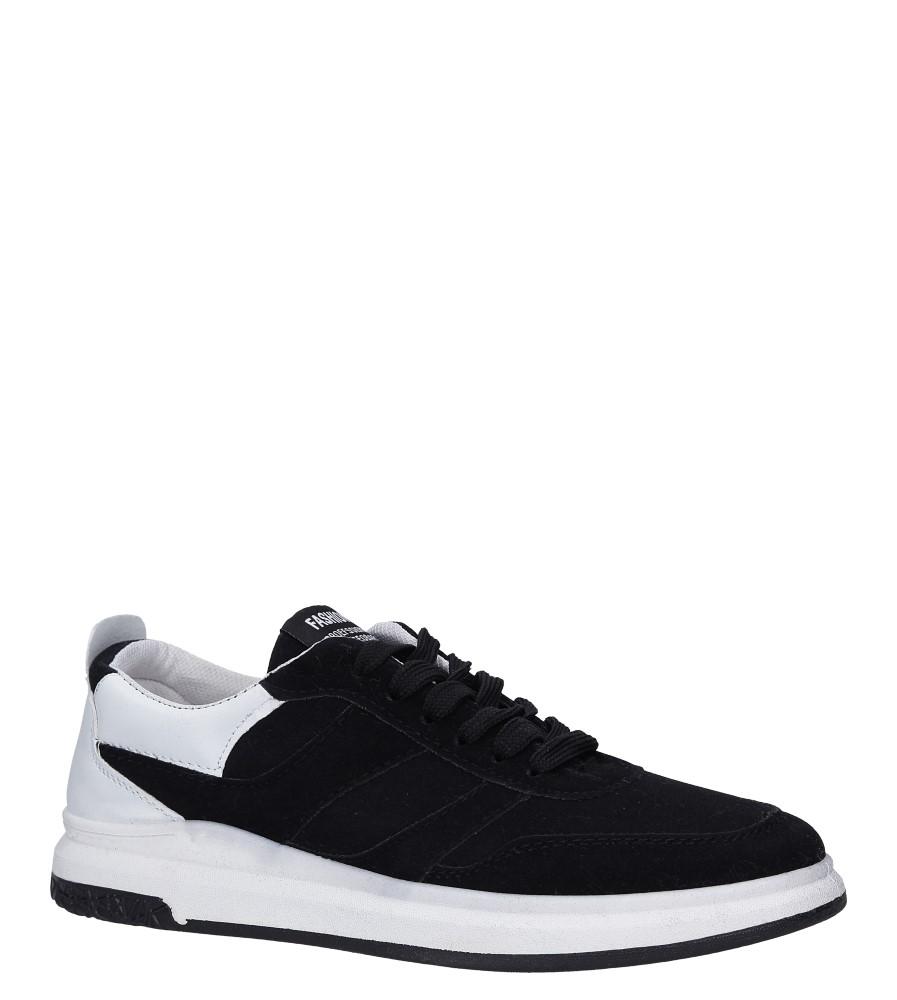 Czarne buty sportowe sznurowane Casu 8305