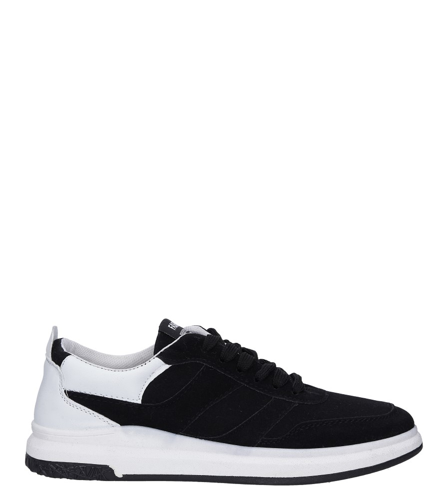 Czarne buty sportowe sznurowane Casu 8305 czarny