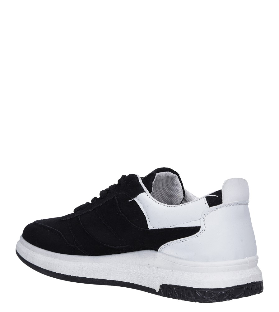 Czarne buty sportowe sznurowane Casu 8305 sezon Całoroczny