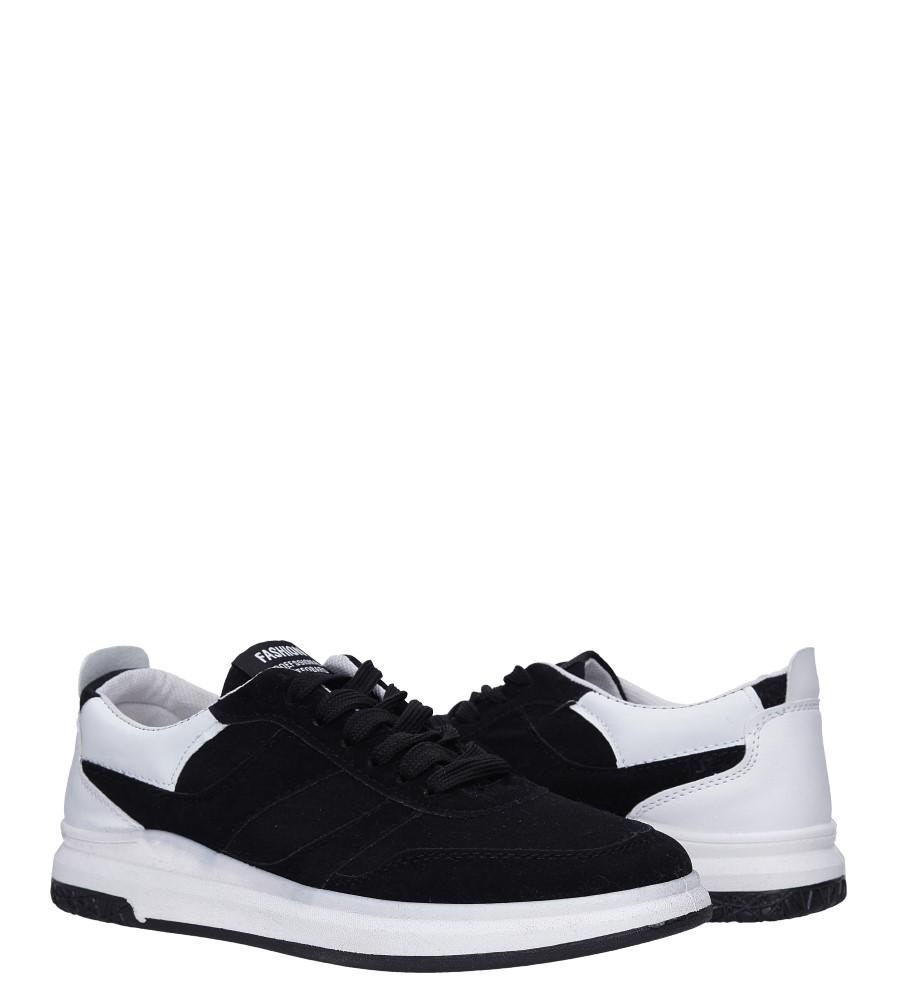 Czarne buty sportowe sznurowane Casu 8305 wysokosc_platformy 1.5 cm