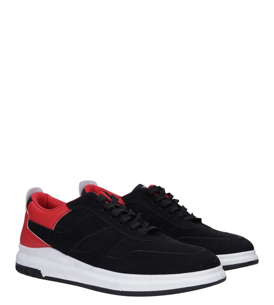 Czarne buty sportowe sznurowane Casu 8305 kolor czarny