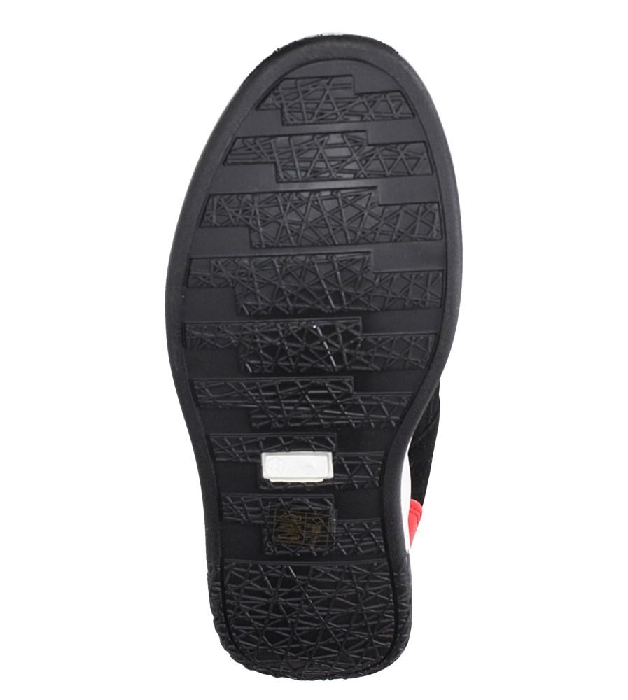 Czarne buty sportowe sznurowane Casu 8305 wierzch materiał/skóra ekologiczna