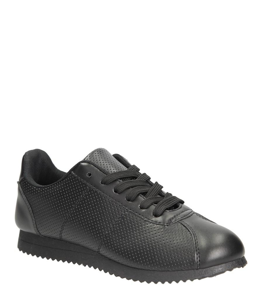Czarne buty sportowe sznurowane Casu 87-1A czarny