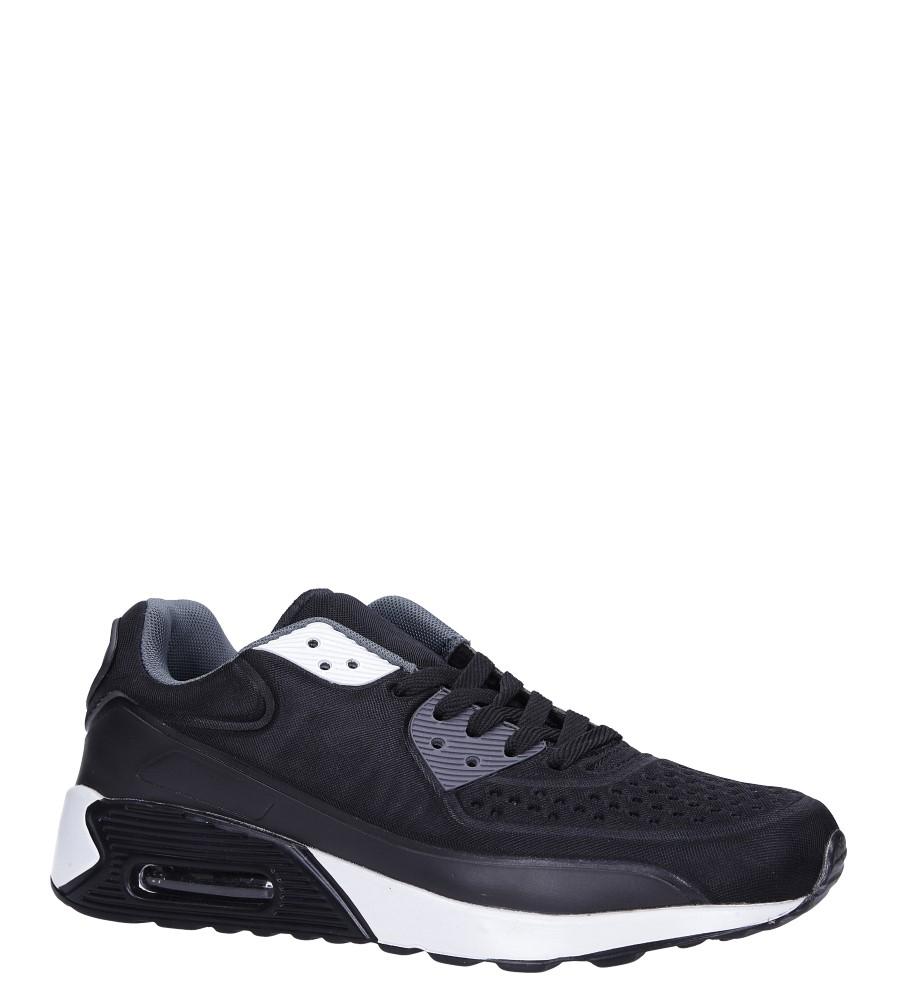Czarne buty sportowe sznurowane Casu 8867-6 producent Casu