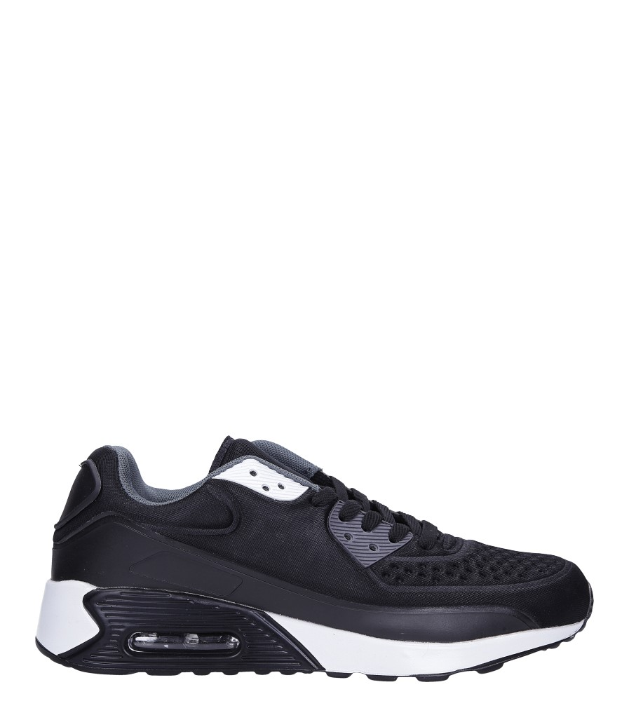 Czarne buty sportowe sznurowane Casu 8867-6