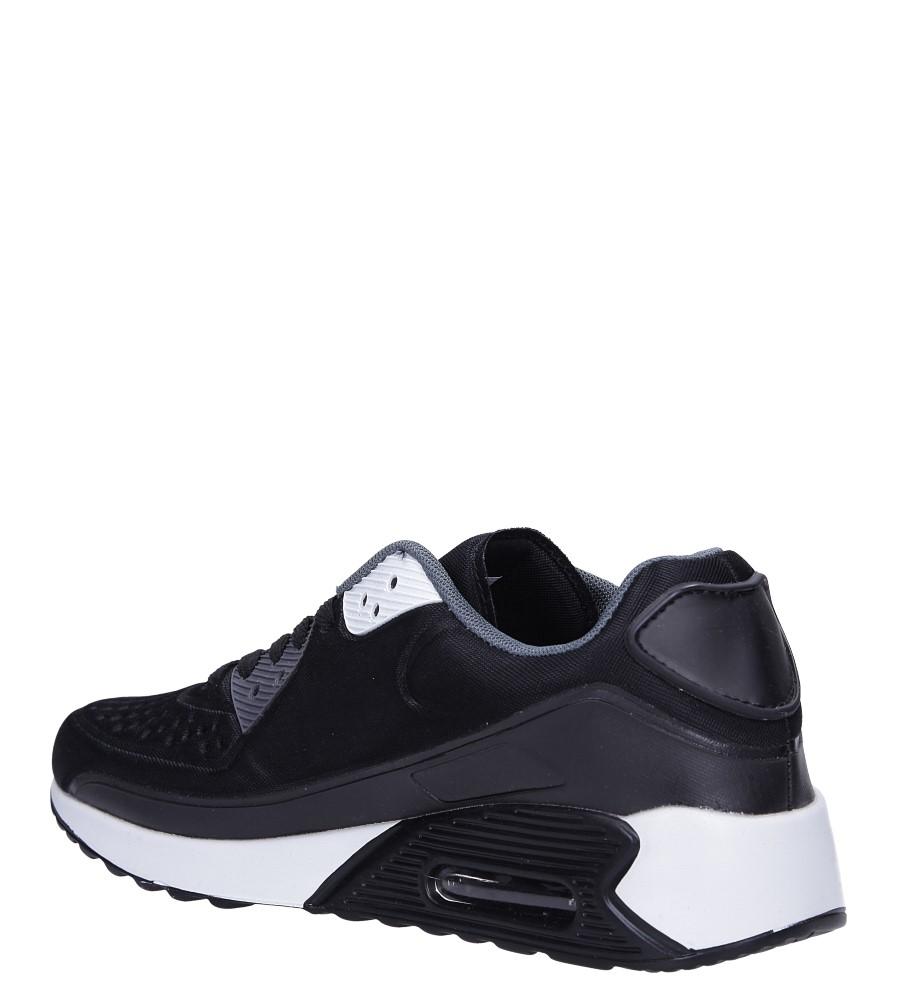 Czarne buty sportowe sznurowane Casu 8867-6 sezon Całoroczny