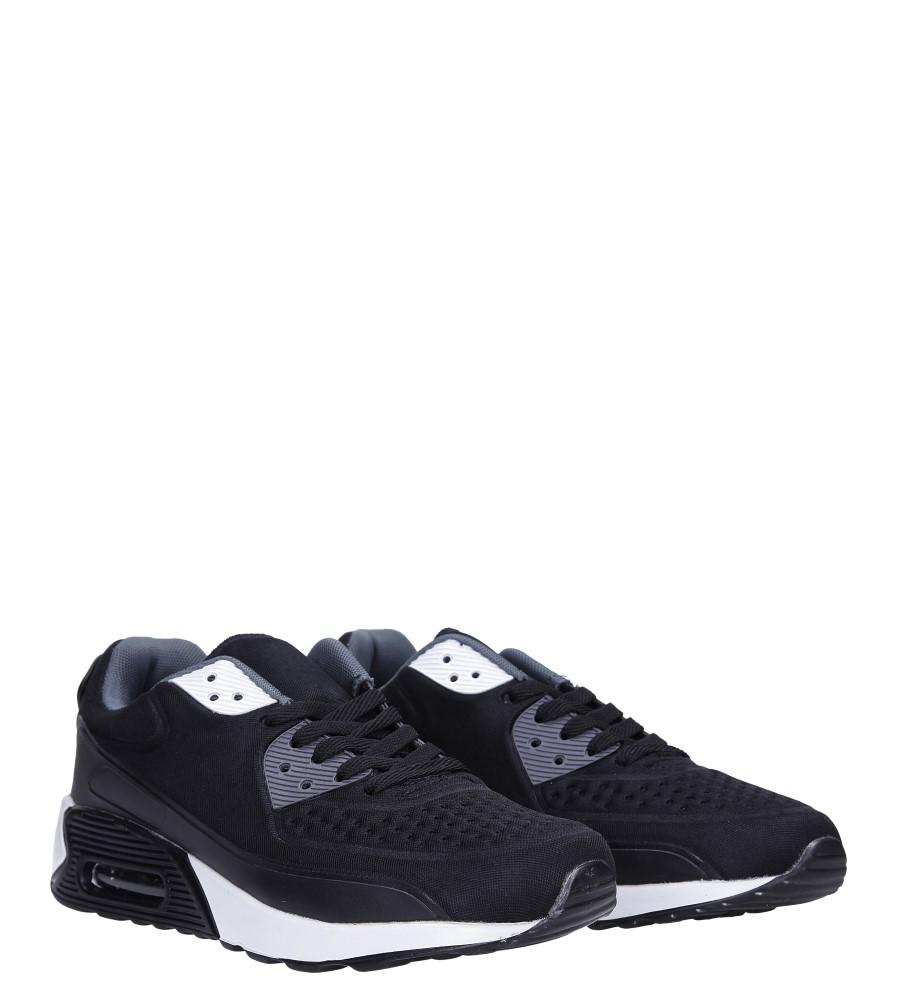 Czarne buty sportowe sznurowane Casu 8867-6 kolor biały, czarny