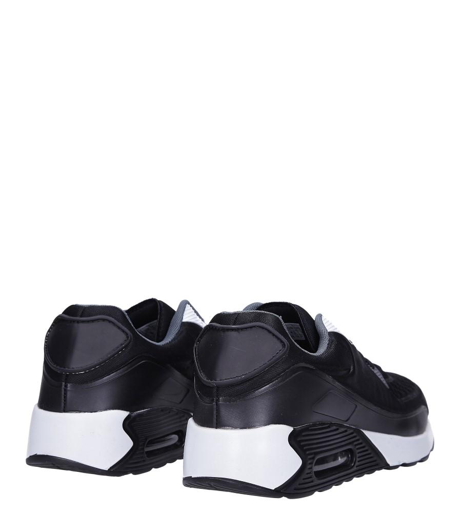 Czarne buty sportowe sznurowane Casu 8867-6 wysokosc_platformy 1.5 cm