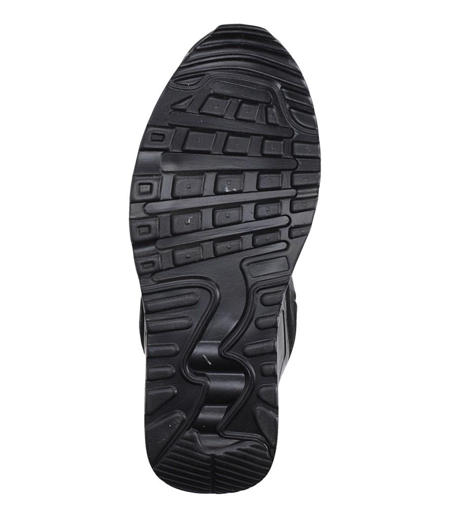 Czarne buty sportowe sznurowane Casu 8867-6 wierzch materiał/skóra ekologiczna