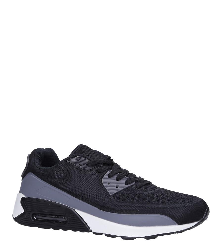 Czarne buty sportowe sznurowane Casu 8867-7 producent Casu