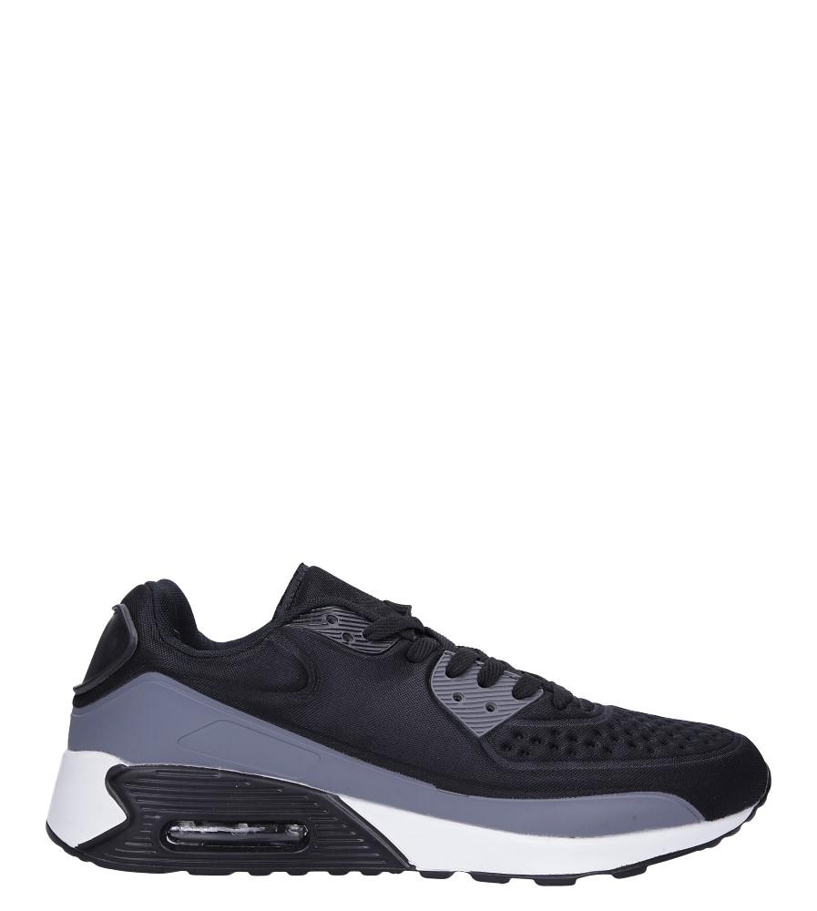 Czarne buty sportowe sznurowane Casu 8867-7