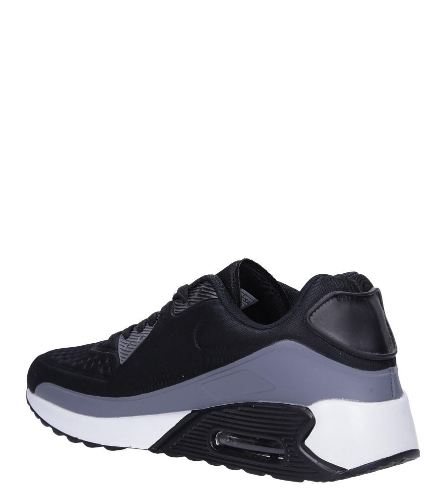 Czarne buty sportowe sznurowane Casu 8867-7 sezon Całoroczny
