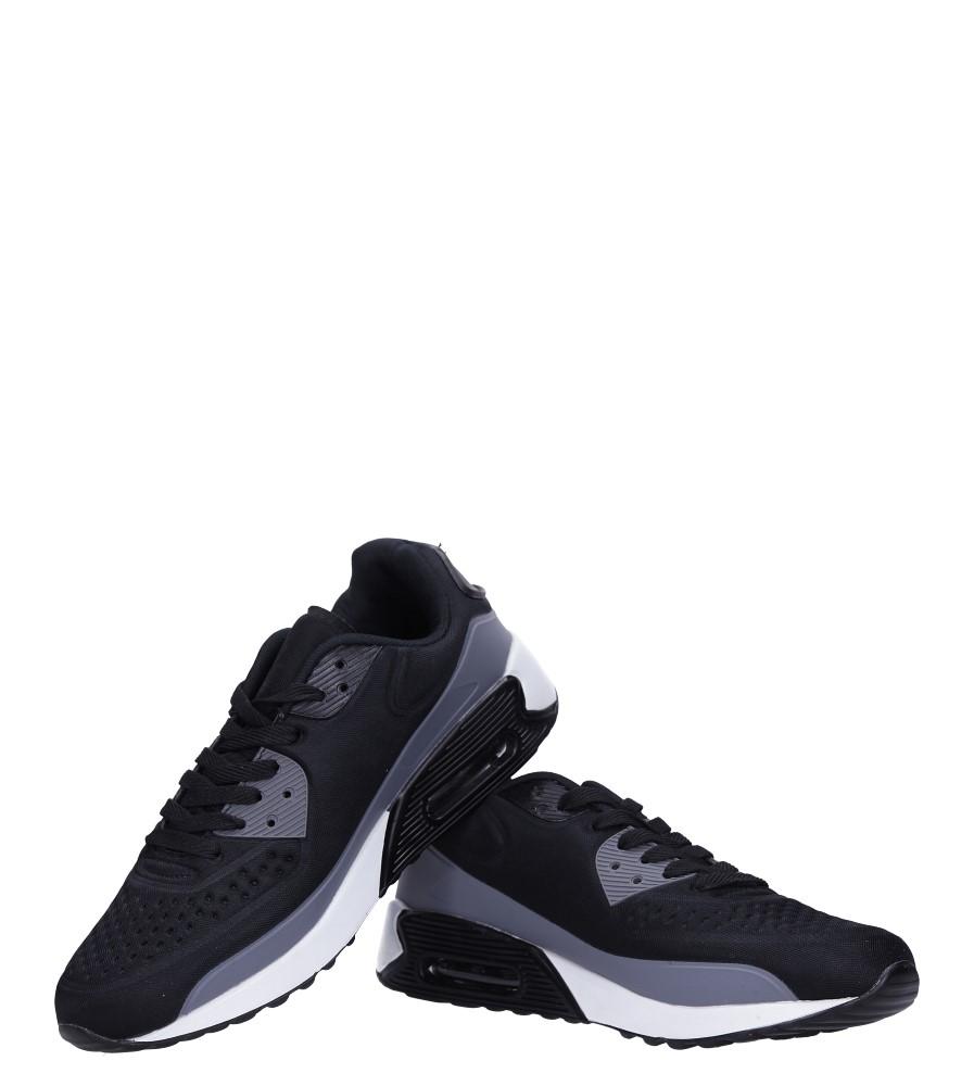 Czarne buty sportowe sznurowane Casu 8867-7 kolor ciemny szary, czarny