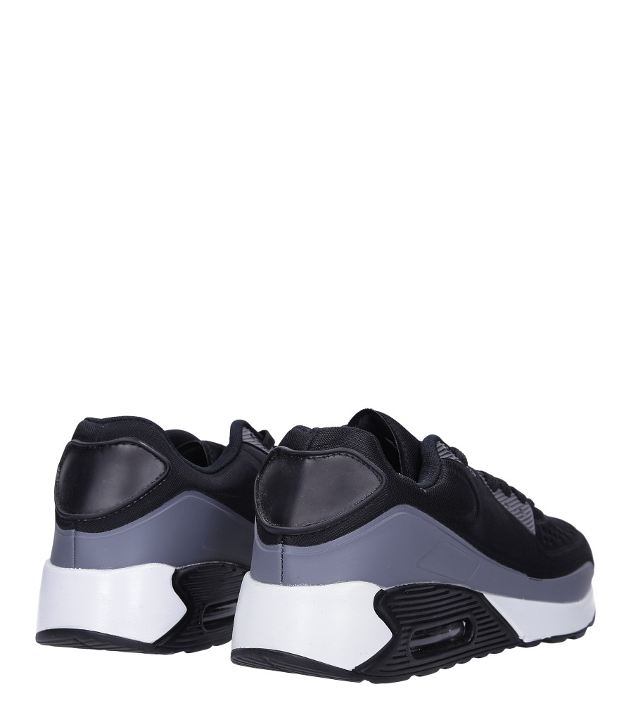Czarne buty sportowe sznurowane Casu 8867-7 wysokosc_platformy 1.5 cm