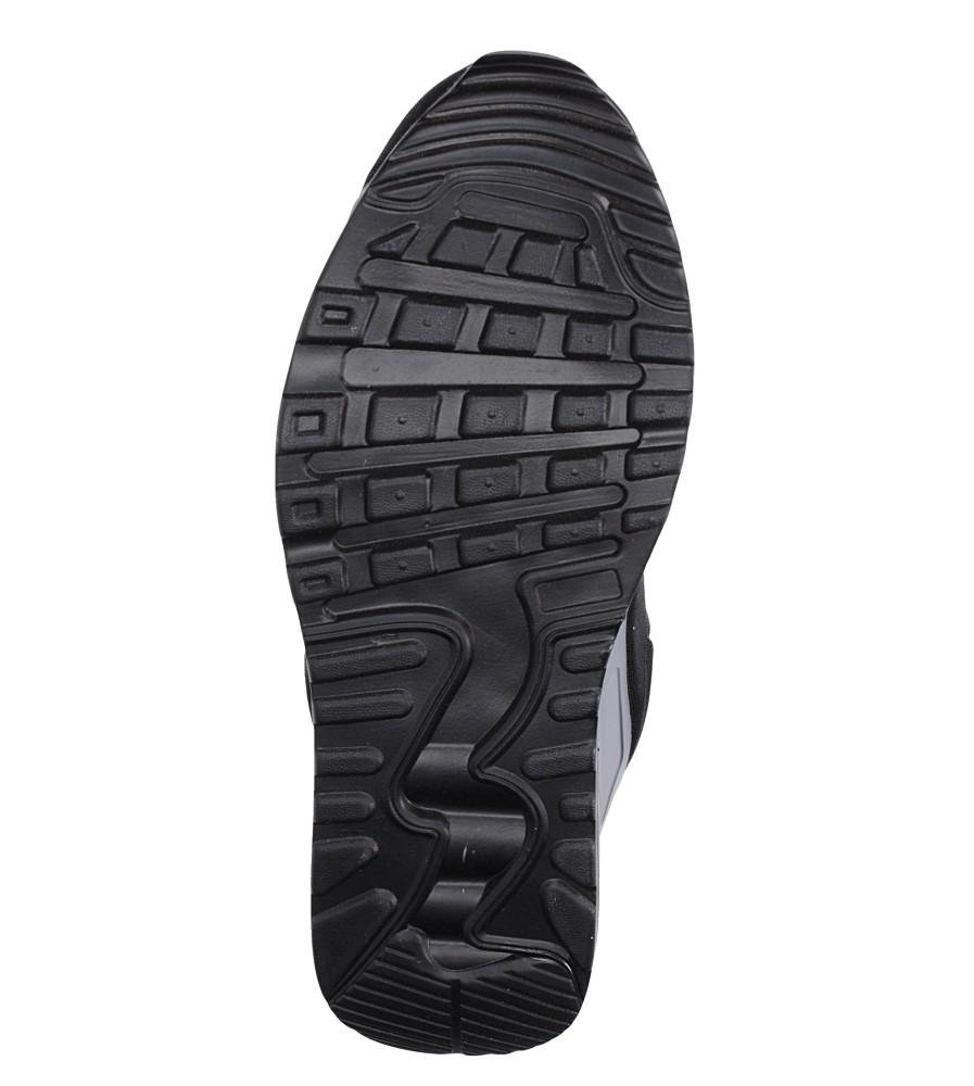 Czarne buty sportowe sznurowane Casu 8867-7 wierzch materiał/skóra ekologiczna