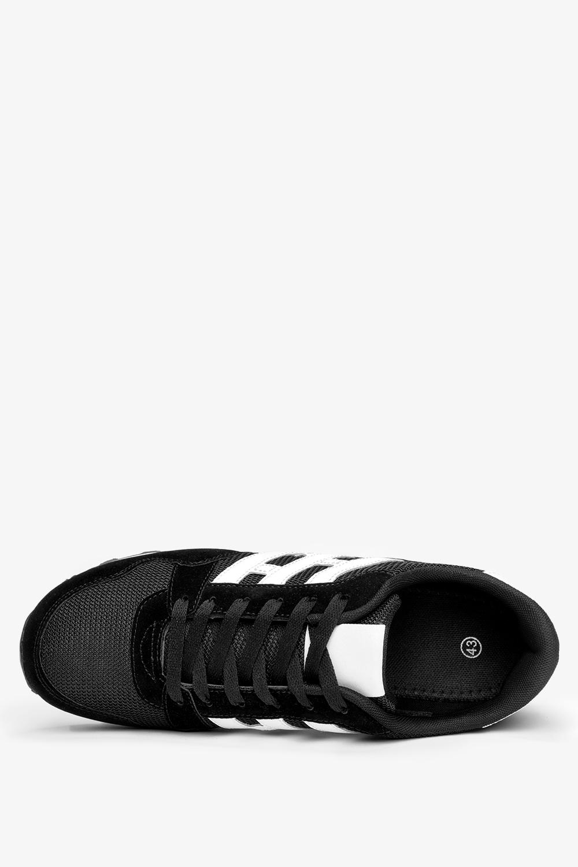 Czarne buty sportowe sznurowane Casu 9-K2161A