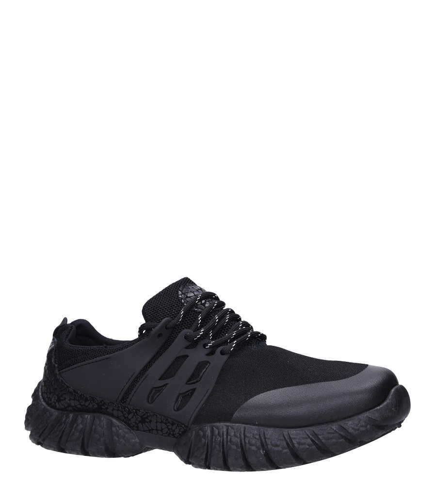 Czarne buty sportowe sznurowane Casu 9120 czarny