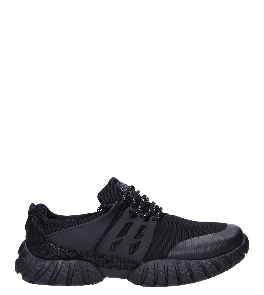 Czarne buty sportowe sznurowane Casu 9120 model 9120
