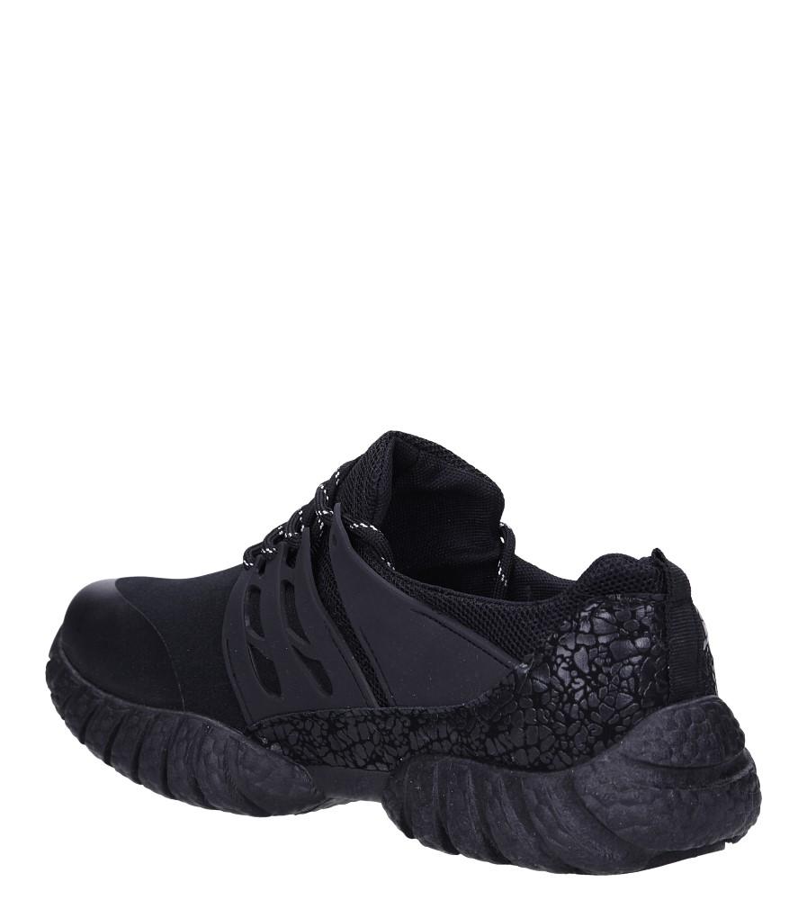 Czarne buty sportowe sznurowane Casu 9120 sezon Całoroczny