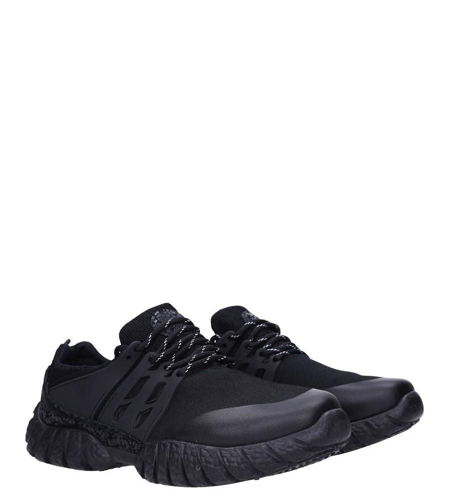 Czarne buty sportowe sznurowane Casu 9120 kolor czarny