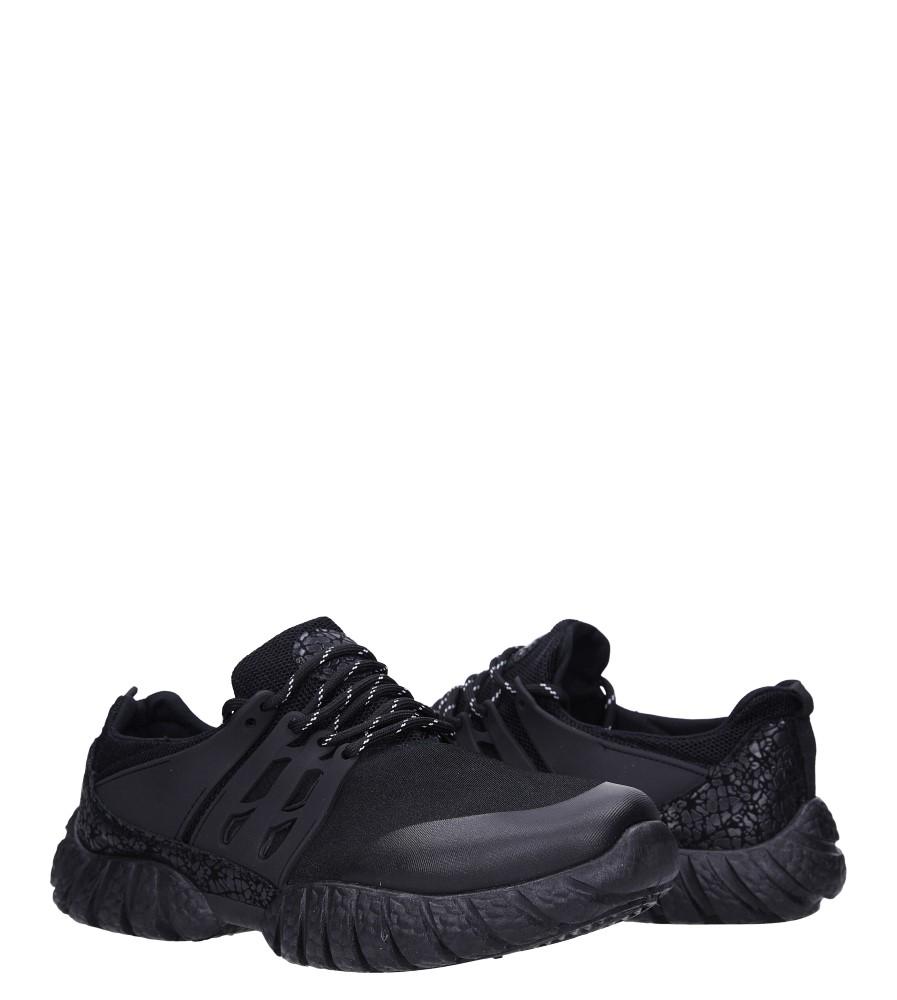 Czarne buty sportowe sznurowane Casu 9120 wysokosc_platformy 1.5 cm